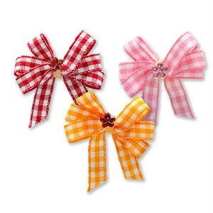 Gingham Pinwheel Bows - Package of 50