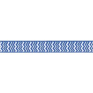 Ribbon / Chevrons on Bright Blue - 50 Yards