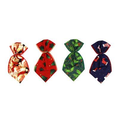 Christmas Bowser Ties - 12 Medium Assorted Designs