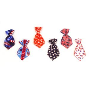 Patriotic Bowser Ties - 12 Large Assorted Designs