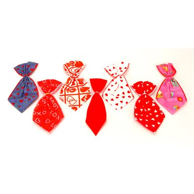 Valentines Bowser Ties - 12 Large Assortment Designs
